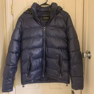 Men's Guess Hooded Bubble Puffer Coat